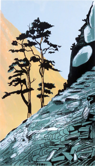 Castle Crag - limited edition screen print by James Bywood