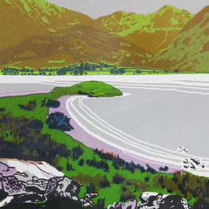 Crummock Water - limited edition screen print by James Bywood