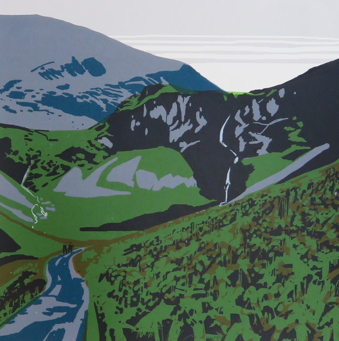 Coldedale - limited edition screen print by James Bywood