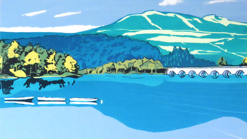 Ladybower - limited edition screen print by James Bywood