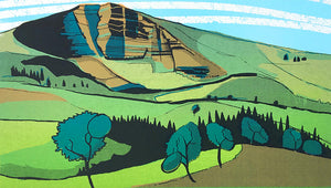 Mam Tor - limited edition screen print by James Bywood