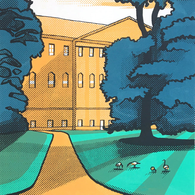 Nostell Priory - limited edition screen print by James Bywood
