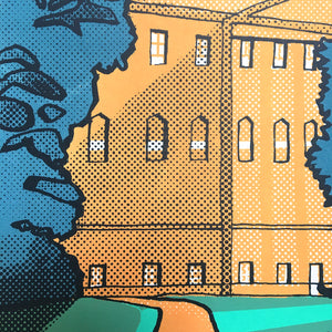 Nostell Priory (detail) - limited edition screen print by James Bywood