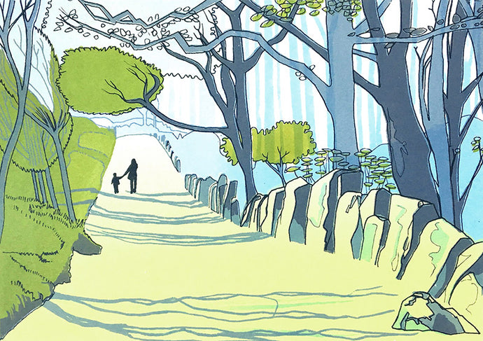 Otley Chevin - limited edition screen print by James Bywood