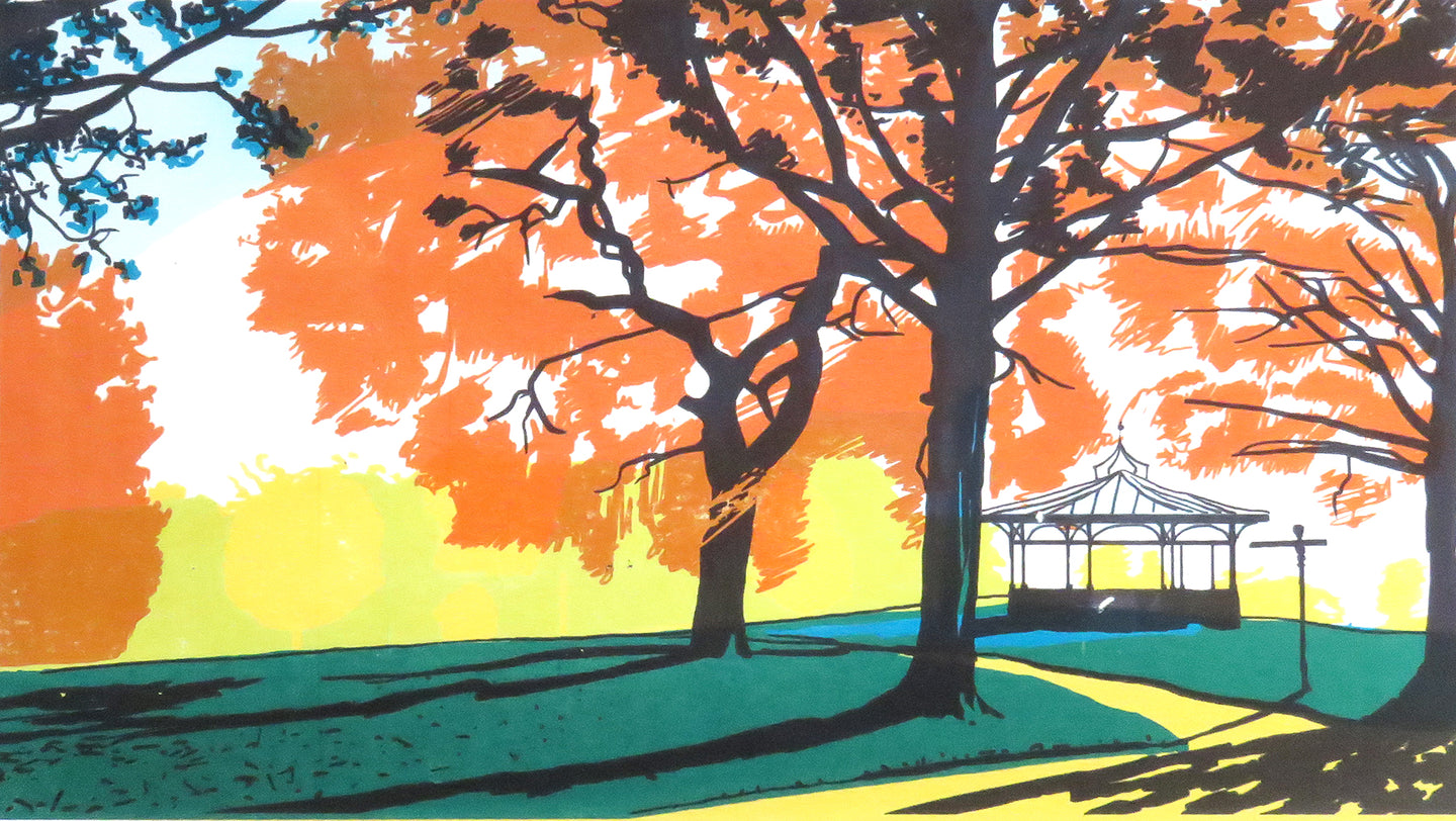 Roundhay Park - limited edition screen print by James Bywood