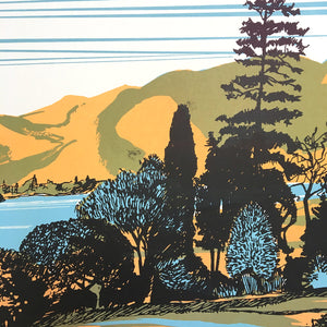 Skiddaw and Derwentwater (detail) - limited edition screen print by James Bywood