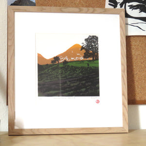 Evening Sun on Grasmoor (framed) - limited edition screen print by James Bywood