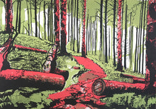 Though the Forest - limited edition screen print by James Bywood