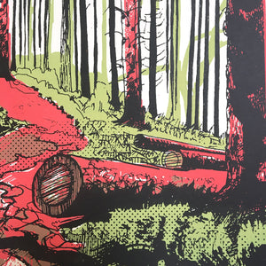 Though the Forest (detail) - limited edition screen print by James Bywood
