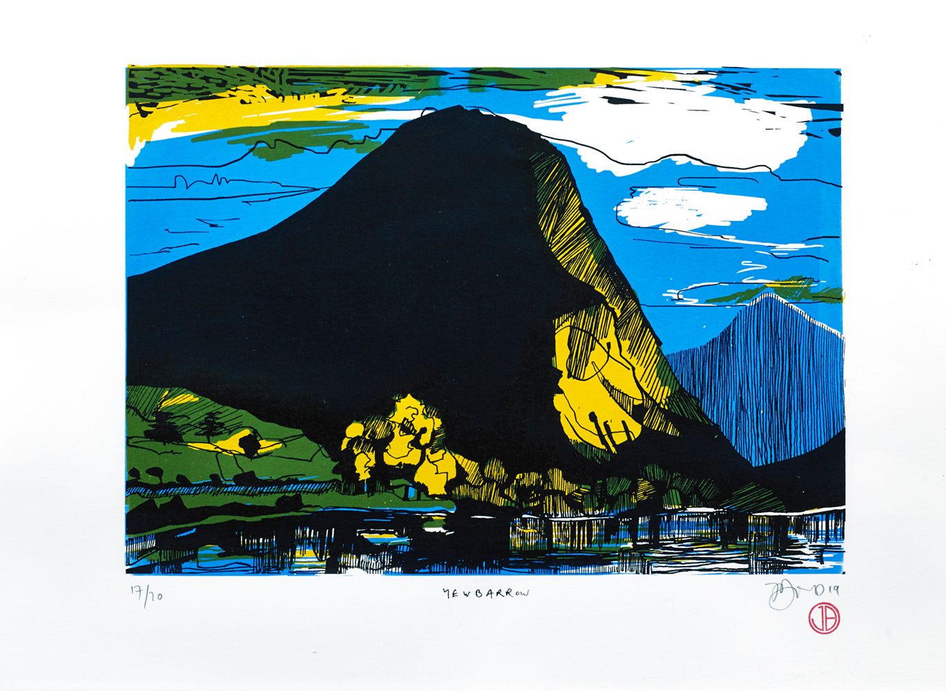 Limited edition screen print of Yewbarrow