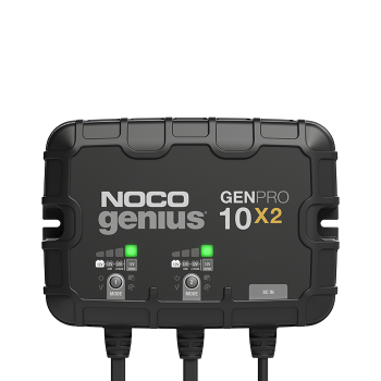NOCO GENPRO10X2  12V 2-Bank, 10-Amp (Per Bank) On-Board Battery Charger