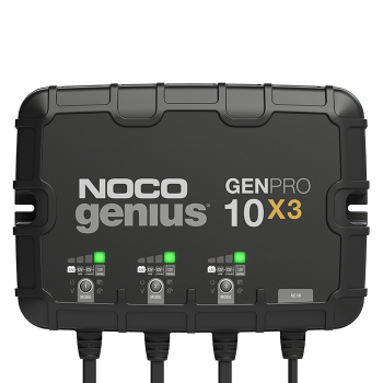 NOCO GENPRO10X3  12V 3-Bank, 10-Amp (Per Bank) On-Board Battery Charger