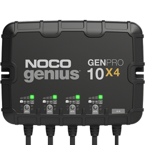 NOCO GENPRO10X4  12V 4-Bank, 10-Amp (Per Bank) On-Board Battery Charger