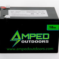 12AH FREE shipping and handling AMPED Outdoors Lithium Battery 6AH 18AH 30AH