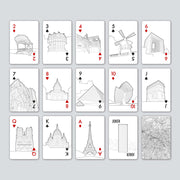 Playing Cards with famous buildings unusual gifts