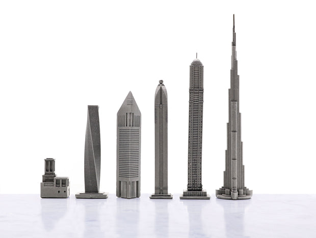Dubai City Buildings unique chess set - gift ideas for men