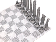Skyline Chess London metal chess set chess board setup