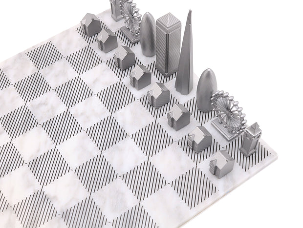 London unique metal chess set cool board game for men
