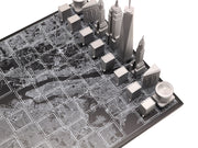 Skyline Chess New York unique set up chess board with personalized message