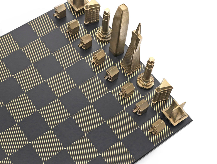 Skyline Chess San Francisco unique set up chess board