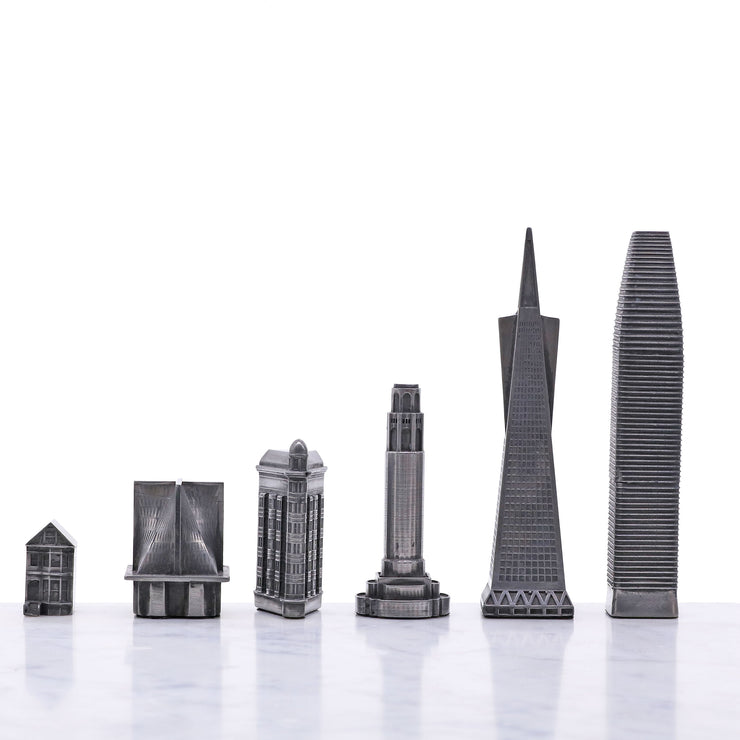 City Buildings unique chess set personalized gifts