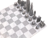 San Francisco metal chess set chess board setup