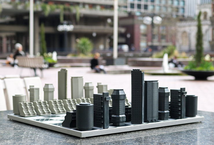 London Brutalist unique chess set personalized gifts