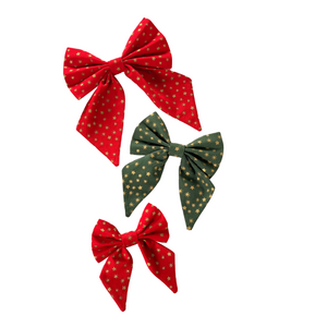 Jolly Star Sailor Bow - Red or Green