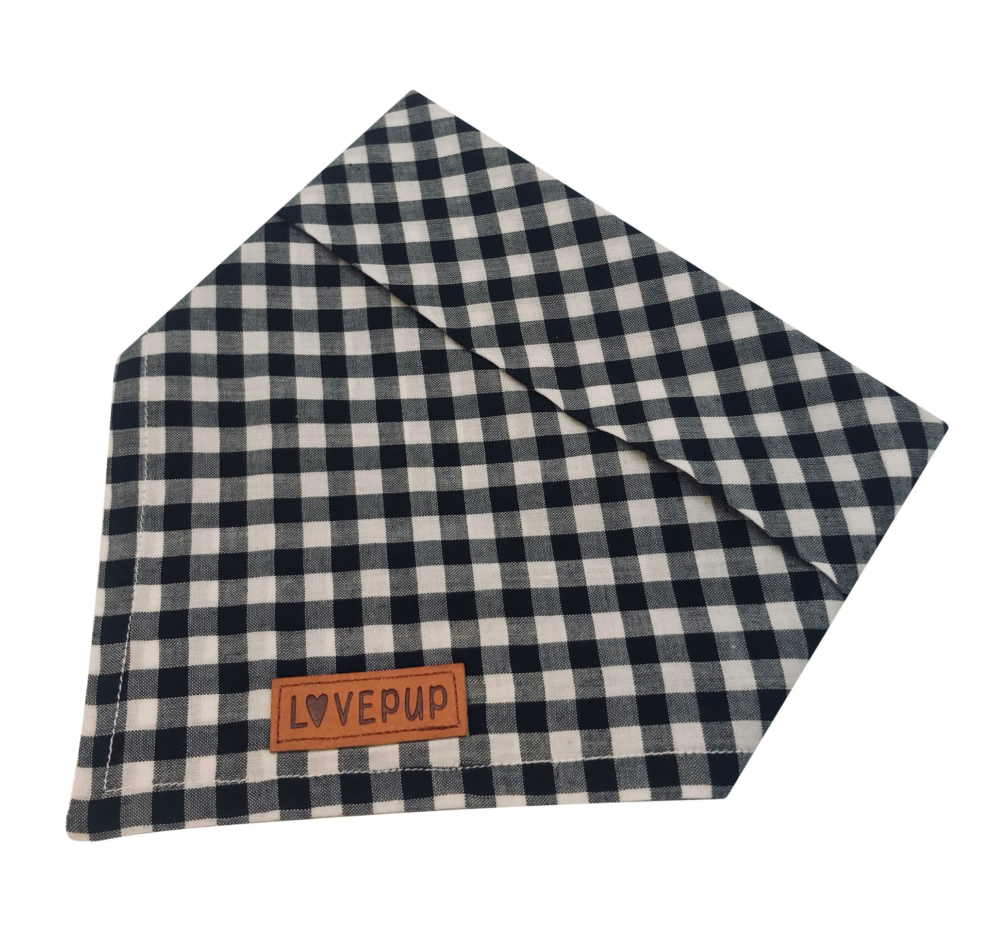 Black Gingham Bandana