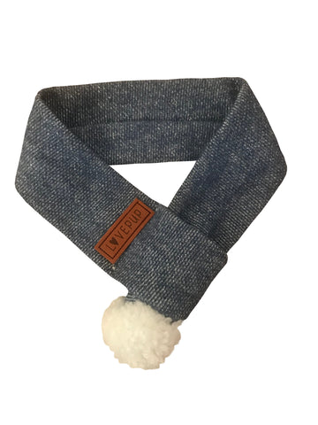Winter Dog Scarf - Icy Blue
