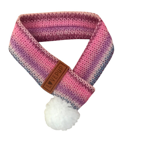 Winter Dog Scarf - Rainbow Sorbet