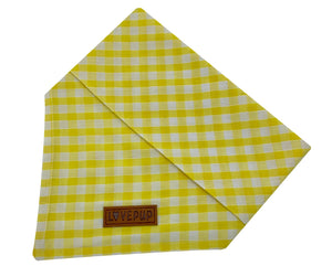 Yellow Gingham Bandana