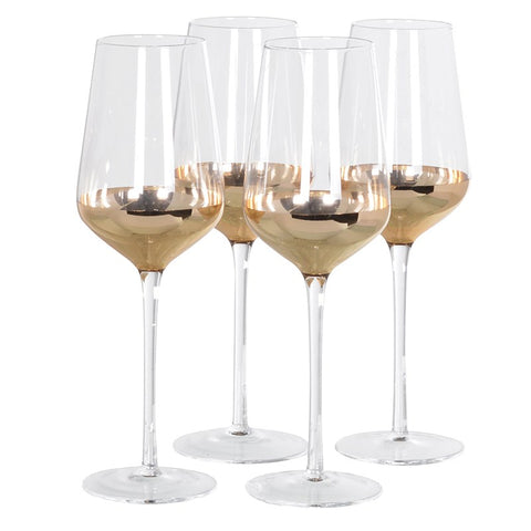 Set of 4 Copper Champagne Glasses