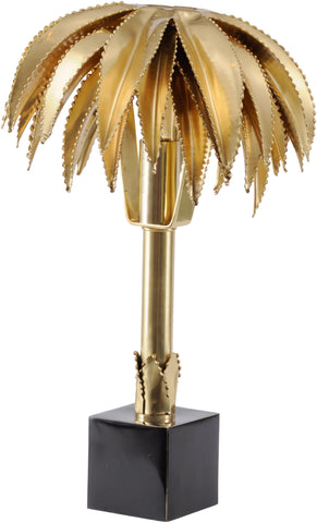 Polished Brass Palm Tree Lamp (Small)