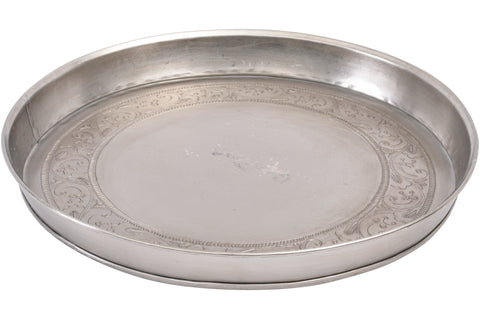 Crafted Iron Round Tray
