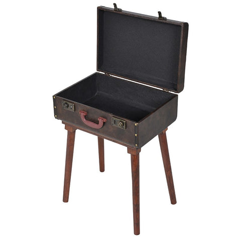 Brown Suitcase Table