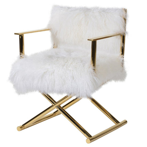 Gold Frame Mongolian Chair