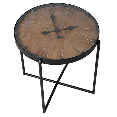 Clock Face Side Table