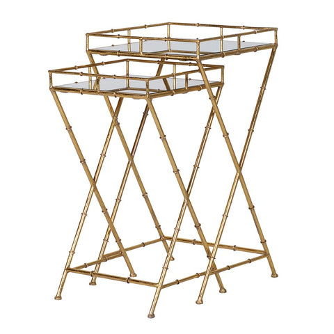 Gold Bamboo Side Tables