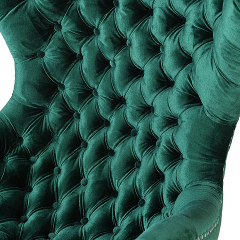 Emerald Curved Buttoned Chair