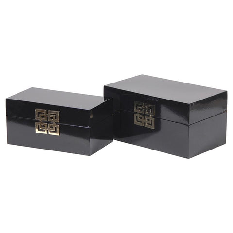 Set of 2 Black Boxes