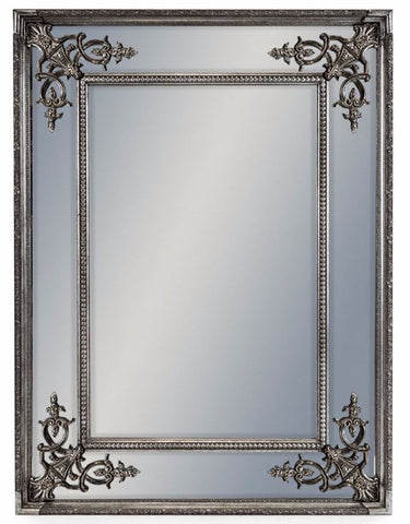 Silver Square French Mirror