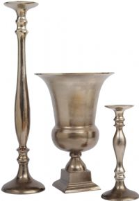 Stained Bronze Aluminium Candle Holder (Large)