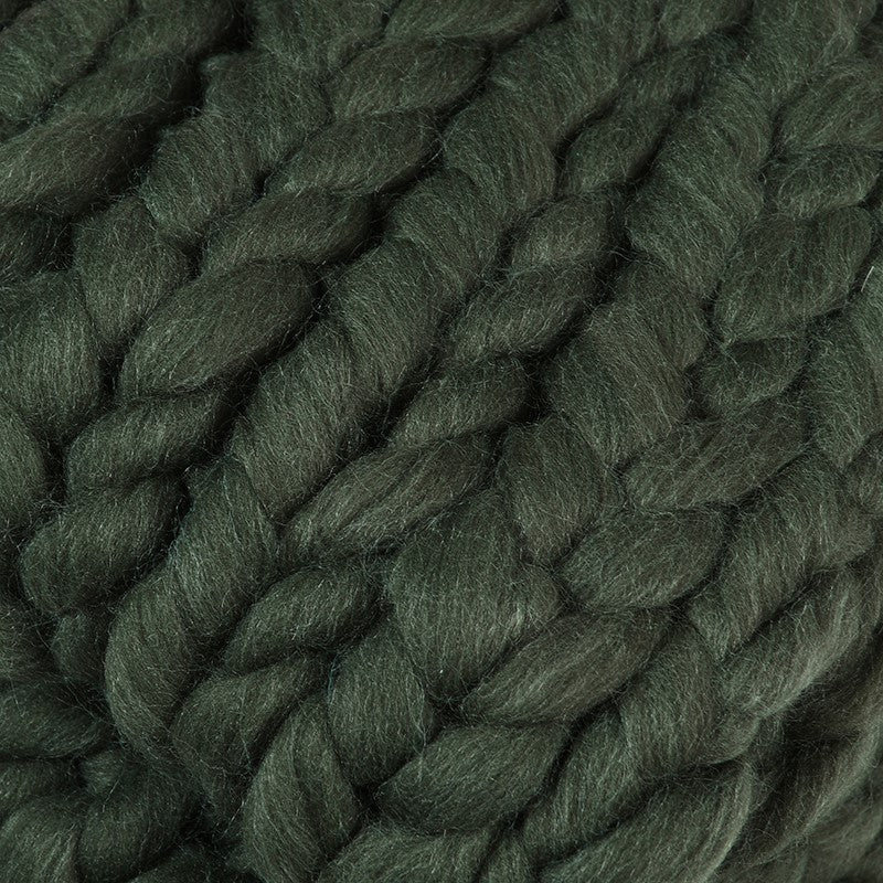 Green Chunky Iceland Thick Yarn Blanket