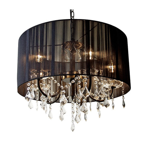 Pleated Shade Chandelier