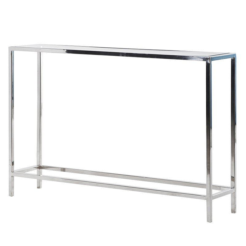 Slim Glass & Steel Console