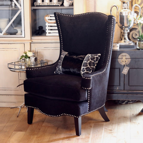 Black High Back Chair