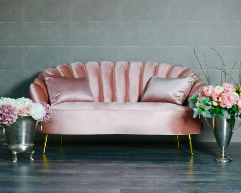 Rose Pink 2 Seater Petal Sofa Price