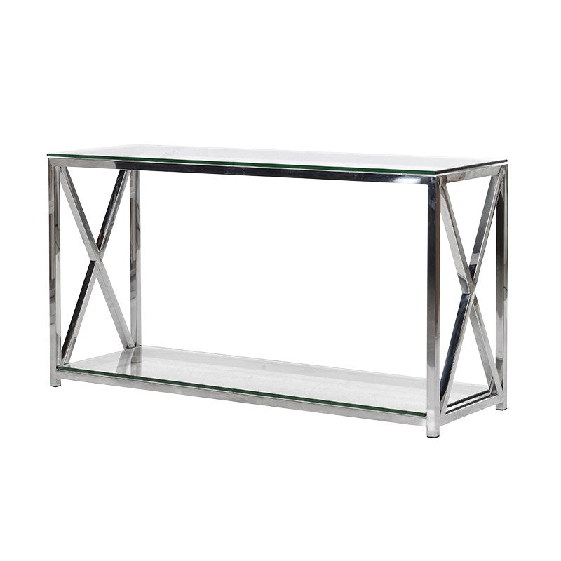 Steel and Glass Console