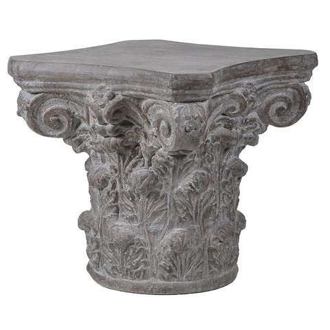 Stone Effect Plinth Side Tables